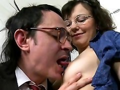 Blowjob for older teacher
