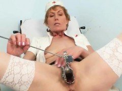 Old mom self exam on...